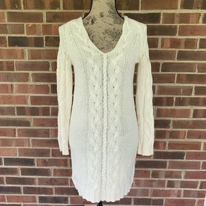 Dresses & Skirts - Cream cable knit sweater dress
